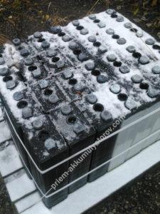 Сдать аккумуляторы зимой